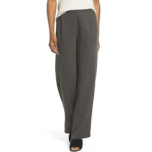 Eileen Fisher Woven Tencel Straight Leg Pants